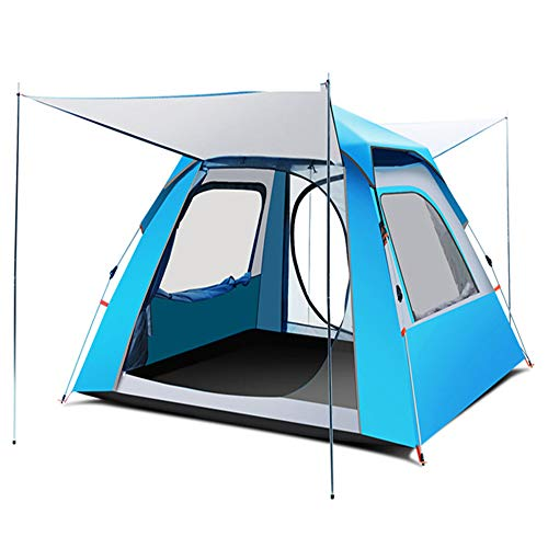 Family Tent, 3-4 Person 4-Season Large Waterproof Lightweight Backpacking Tent for Camping Hiking Travel Climbing - Easy Set Up