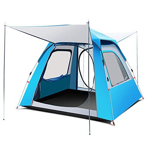 HSART Tienda Familiar, 3-4 Personas 4 Estaciones Tienda Grande Impermeable Ligera para Mochileros para Camping Senderismo Viajes Escalada - Configuración Fácil