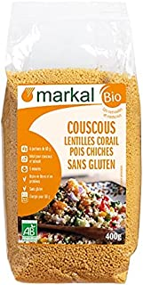 Markal Organic Red Lentils Chick Peas Couscous Gluten Free, 400g - Pack of 1