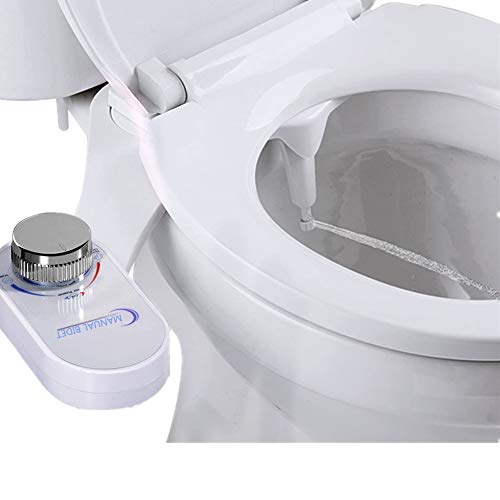 Nifogo Non-Electric Mechanical Bidet Toilet Attachment - Home Bidet Fresh Water Spray, Self-Cleaning and Nozzle