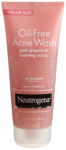 Neutrogena Oil Free Pink Grapefruit Acne Face Wash with Vitamin C,...