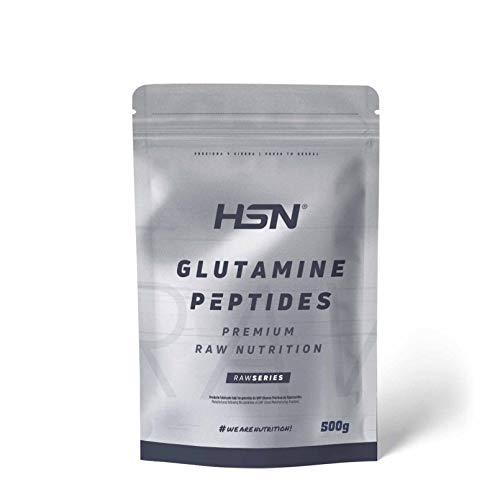Péptidos de Glutamina de HSN | Máxima Biodisponibilidad y Mayor Asimilación, Recuperación Muscular Óptima, Salud Intestinal | Vegano, Sin Lactosa, Sin Sabor, 500 gr