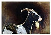 Diy 数字油絵 数字塗り絵 _ 羊ラム雌羊子羊縁起の良い動物 _ 大人の子供のためのギフト デジタル油絵 数字キットでペ _ ント ホーム オフィス装飾 _ 40X50Cm _ 【ギフト】木製フレーム