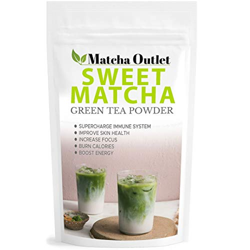 Sweet Matcha from Japan - Green Tea Powder Mix 12oz - Made with 100% Organic Matcha - Perfect for Making Green Tea Latte or Frappe
