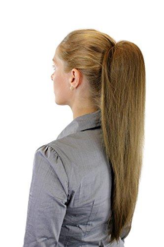 Postiche: Couette/queue de cheval volumineuse mais lisse, nouvelle attache avec mini pince papillon, blond cendré, 65 cm WK06-19