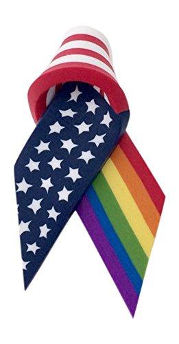 Fröhlich Made LGBT Gay Lesbian American Band Flagge Rainbow Pride Anstecknadel