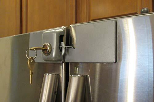 French Door Fridge Lock Refrigerator Door Lock (Grey)