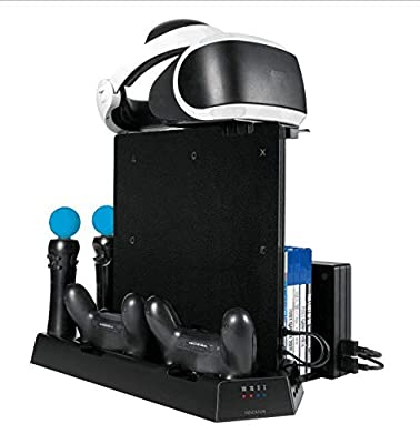N/A New Vertical Cooling Stand Charging Station for PS4 Slim PRO VR Controllers Multi-Functional Charger Cooling Stand
