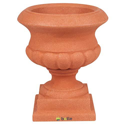 botle Blumenschale Pflanzschale Amphore Pflanzpokal Gartendeko Farben 28 cm Braun