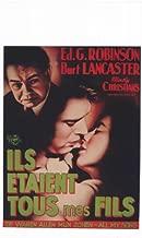 All My Sons Movie Poster (14 x 22 Inches - 36cm x 56cm) (1948) Belgian -(Edward G. Robinson)(Burt Lancaster)(Mady Christians)(Louisa Horton)