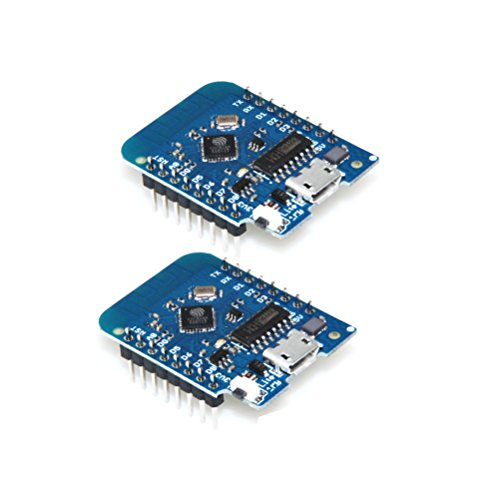 diymore para Wemos D1 Mini Lite V1.0.0 ESP8285 (reemplace ESP8266) WiFi Wireless 1MB Flash CH340G IOT Micro USB Junta de Desarrollo de Internet compatibile con Arduino (2PCS)