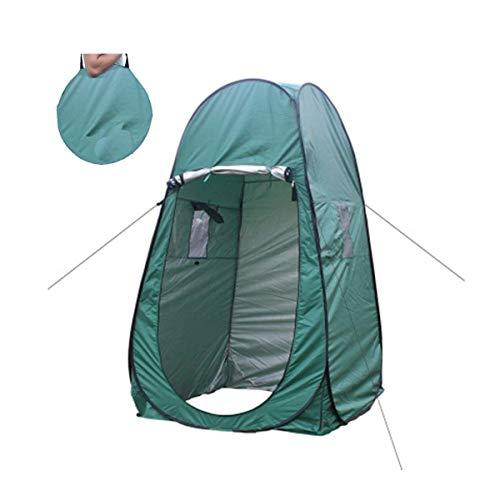 RYP Tienda de Campaña Instantánea Pop Up Camping WC Sola Tienda, for al Aire Libre Cambio de Vestir Baño Pesca Ducha Trastero Tiendas de campaña, portátil con Bolsa de Transporte (Color : Green)