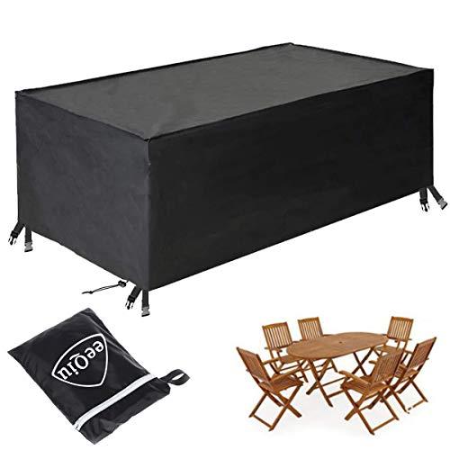eeQiu Abdeckung Gartenmöbel, [213 * 132 * 74cm] Praktische Abdeckung für Ihre Gartenmöbel - winterfeste Schutzhülle für Gartenmöbel - 600D Oxford Outdoor Furniture Cover