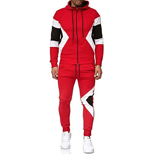 Yying Conjunto de Chándal de Hombre - Sudaderas con Capucha + Pantalones Joggers Sports Suits - Y19120509