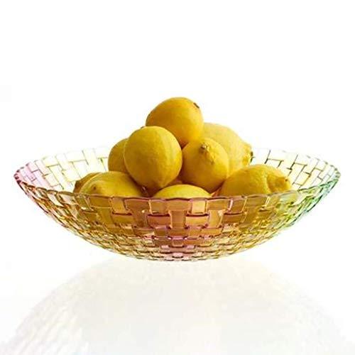 KDJJH Etagere mit Obstschalen, Arbeitsplatte ObstköRbe Kristallglas Obst-Etagere Dekorativer Obstkorb Praktischer FrüChtekorb für Obst und Gemüse,red_8x32cm/3x13inch