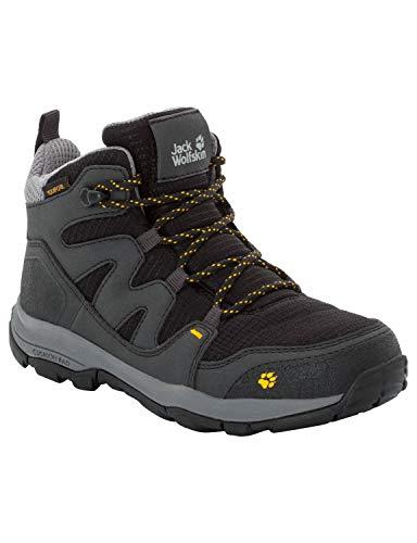 Jack Wolfskin Unisex-Kinder MTN Attack 3 Texapore Mid Trekking- & Wanderstiefel, Grau (Burly Yellow Xt 3802), 33 EU