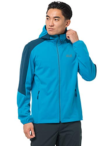 Jack Wolfskin Herren Go Hike Softshell M Shell-Jacke, Blue Jewel, 3XL