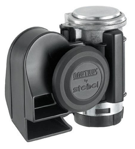 Stebel Nautilus Compact Motorcycle Air Horn - Loud - Black