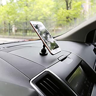 Car Phone Mount,LaucoNano Suction Car Mount, Pad Car Phone Holder with 720°Rotation Car Mount Washable Strong Sticky Gel for Phones & Cases