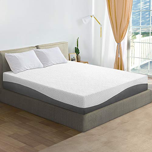 Olee Sleep 10 inch Aquarius Memory Foam Twin Mattress, Grey