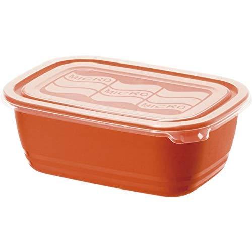 Rotho Eco Boîte Micro-ondes 1L avec Couvercle, Plastique (PP) sans BPA, Rouge/Transparent, 1L (19,3 x 13,6 x 7,3 cm)