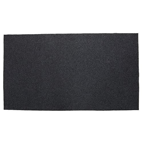 124 x 75 cm/48,81 x 29,53 pulgadas, portátil, resistente al fuego, resistente al calor, para parrilla de barbacoa, alfombra para salpicaduras, alfombra protectora para barbacoa para césped y jardín