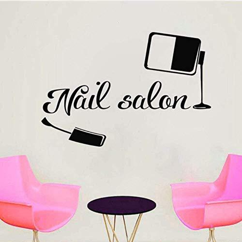 Le Nail Salon Wall Decal Fashion Girl s Room Decor Nail Polish Beauty Stickers Art Wall Sticker Modern Poster 62 * 42Cm