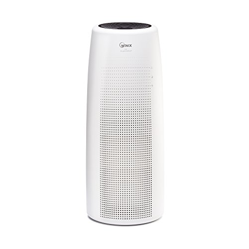 Winix NK105 Wi-Fi True HEPA Tower Air Purifier, Large Room Capacity, Amazon Dash Replenishment Enabled,White