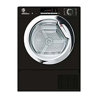 Hoover H-Dry 300 BATDH7A1TCEB Integrated Heat Pump Tumble Dryer, Wifi Connected, 7KG, Black