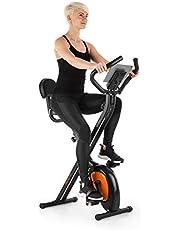 Klarfit X-Bike-700 Ergometer, hometrainer, fitnessbike, cardio-bike, trainingscomputer, geïntegreerde handhartslagmeter, 8-traps verstelbare weerstand, ergonomisch zadel, max. 100 kg.