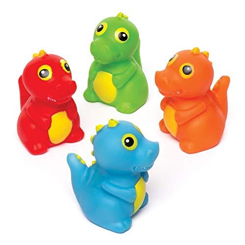 """Baker Ross Wasserspritzer """"Dinosaurier"""" (4 Stück) – schwimmende Gummispritzer für die Badewanne oder im Schwimmbad"""