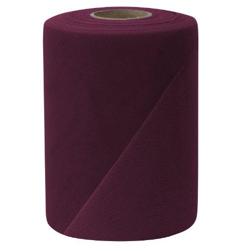 Falk Fabrics Tulle Spool, 6-Inch by 100-Yard, Wine