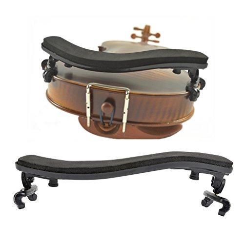 TIMESETL Schulterstütze Geige Violin, Einstellbar Gummi Kunststoff Gepolstert Schulterhalter für Größe 3/4 & 4/4 Geige Violine