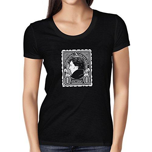 Texlab Damen Sherlock Consulting Detective T-shirt, Schwarz, XL