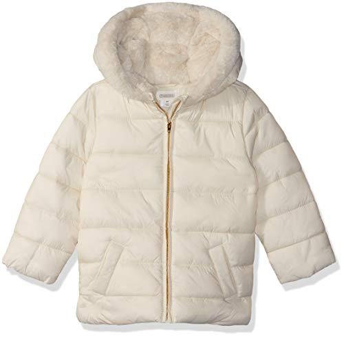 Gymboree Girls' Big Puffer Jacket, Cream, 2T