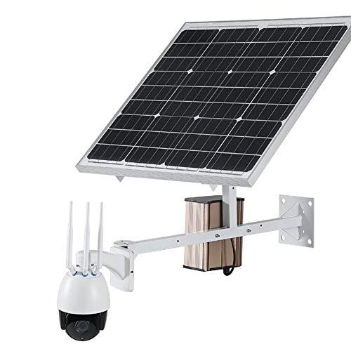 4G LTE al aire libre Solar-Powered celular de Seguridad Pan Tilt Cámara - 5X óptico de vídeo de la bóveda Cam - Al aire libre PTZ del monitor con visión nocturna, detección de movimiento PIR,960P