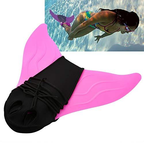 Towinle Tauchflossen Kinder Tauchen Flossen Mädchen Flossen Meerjungfrau Schwimmflossen Schwimmen Flipper (Pink)