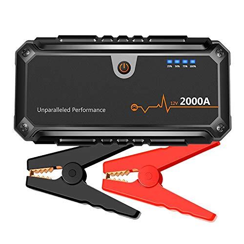 MAGO 2000A auto starthulp draagbare 16000mAh powerbank met dubbele USB-poorten LED zaklampen voor 12V voertuigen (100L gassen of 8.0L diesel)