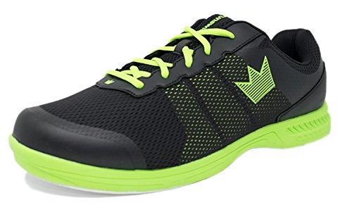 Brunswick Fuze Bowling-Schuhe für Damen und Herren, für Rechts- und Linkshänder Schuhgröße 39-46, in verschiedenen Farben (Schwarz/Neon, 45,5)