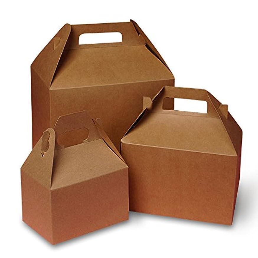 Mini Kraft Gable Boxes 4 X 2-1/2 X 2-1/2 | Quantity: 10 Width 2 1/2