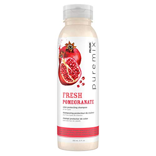RUSK PUREMIX FRESH POMEGRANATE Color Protecting Shampoo for All Hair Types, 12 oz.