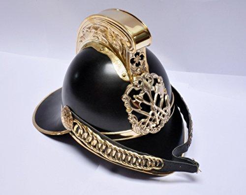 historicalmuseumstore Antik Messing Vintage Stil Feuerwehr Helm Fire Fighter schwarz