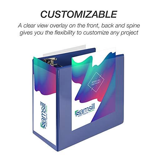 Samsill Durable 6 Inch Binder Blue D Ring Binder/Customizable Clear View Binder/Bulk Binder 2 Pack/Blue 3 Ring Binder 6 inch (MP2X6422) Photo #3