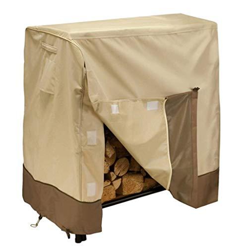 Risareyi 4FT 8FT étanche Log Rack couverture avec sac de transport, 420D Heavy Duty extérieur Bois Couverture, pluie neige Protector Tous Protection Météo (Size : A(4ft))
