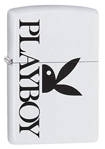 Zippo Unisex's Playboy Peekin Bunny Winddichtes Taschenfeuerzeug, Einheitsgröße, Weiß