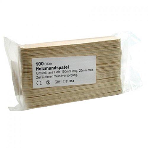 100 Stk. Holzmundspatel 150 x 18 x 1,5 mm von Unigloves, Holzspatel, Wachsspatel, Mundspate