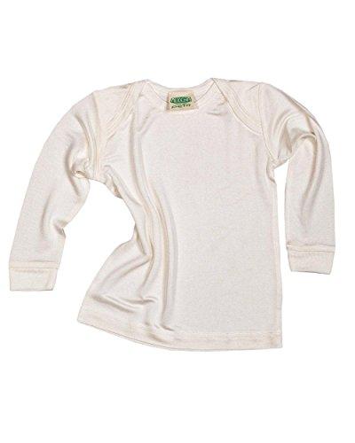 Unbekannt Alkena Baby Schlupfhemd langarm aus 100% Bio-Seide (86, Natur)