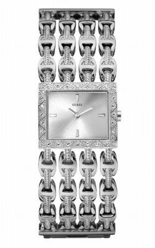 Guess Pebbles W11564L1 - Reloj de Mujer de Cuarzo, Correa de Acero Inoxidable Color Plata