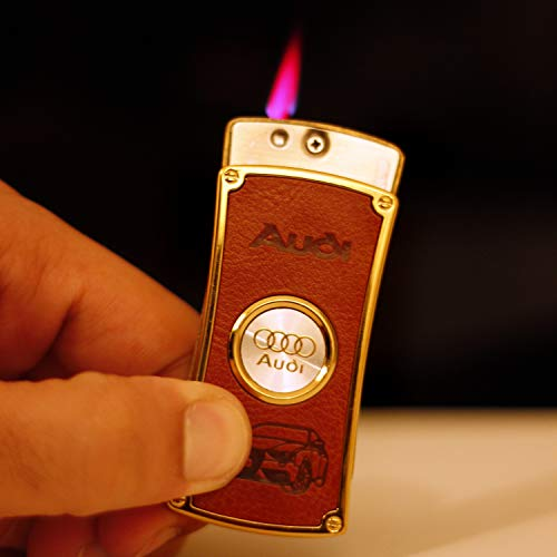 Meesa Luxury Designer Metal Refillable Windproof Cigarette Gas Lighter for Men & Women