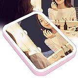 Specchio per il trucco professionale a LED, specchio per il trucco pieghevole, specchio per il trucco, specchio per il trucco da tavolo, strumenti di bellezza per il piano del tavolo da bagno da viagg